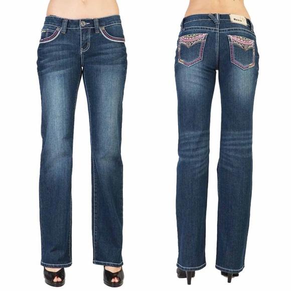 dcebc76769 Adiktd Denim - Adiktd -Medium Stone Christy Mid-Rise Bootcut Jean